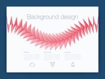 Φουτουριστικό ενδιάμεσο με τον χρήστη UI διάνυσμα υποβάθρου τεχνολογίας Ελεύθερη απεικόνιση δικαιώματος