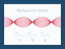 Φουτουριστικό ενδιάμεσο με τον χρήστη UI διάνυσμα υποβάθρου τεχνολογίας Διανυσματική απεικόνιση