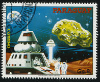 Φουτουριστικό διαστημικό όχημα Στοκ Εικόνες