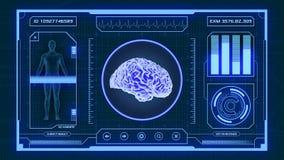 Φουτουριστικό ιατρικό app Στοκ Εικόνες