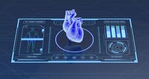 Φουτουριστικό ιατρικό app Στοκ εικόνες με δικαίωμα ελεύθερης χρήσης