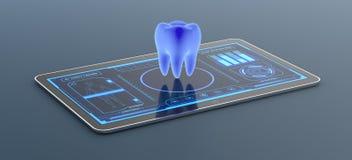 Φουτουριστικό ιατρικό app διανυσματική απεικόνιση