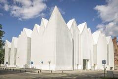 Φουτουριστικό κτίριο γραφείων σε Szczecin φιλαρμονικό Στοκ Φωτογραφία