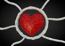 φουτουριστικό κόκκινο καρδιών Στοκ Εικόνες
