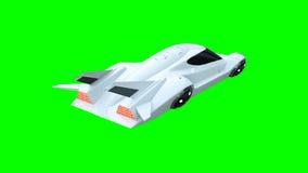 Φουτουριστικό πετώντας αυτοκίνητο Μεταφορά του μέλλοντος απομονώστε τρισδιάστατη απόδοση απεικόνιση αποθεμάτων