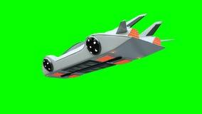 Φουτουριστικό πετώντας αυτοκίνητο Μεταφορά του μέλλοντος απομονώστε τρισδιάστατη απόδοση ελεύθερη απεικόνιση δικαιώματος