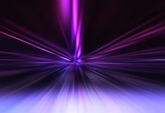 Φουτουριστικό πορφυρό υπόβαθρο φυσήματος teleportation στοκ εικόνα με δικαίωμα ελεύθερης χρήσης
