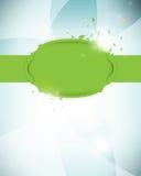 φουτουριστικό πράσινο διάνυσμα ετικετών ανασκόπησης απεικόνιση αποθεμάτων