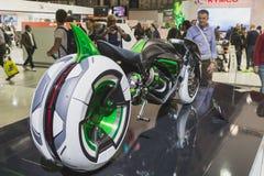 Φουτουριστικό πρωτότυπο Kawasaki σε EICMA 2014 στο Μιλάνο, Ιταλία Στοκ Φωτογραφία