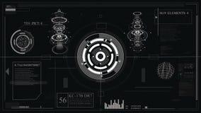 Φουτουριστικό σχέδιο διεπαφών HUD-τεχνολογία για την επίστρωση των τηλεοπτικών και δημιουργώντας παιχνιδιών ολόγραμμα