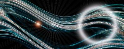 Φουτουριστικό σχέδιο πανοράματος κυμάτων τεχνολογίας Στοκ Εικόνες