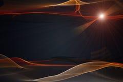 Φουτουριστικό σχέδιο υποβάθρου κυμάτων τεχνολογίας Στοκ Εικόνες