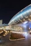 Φουτουριστικό σχέδιο Plaza Dongdaemun στη Σεούλ τη νύχτα Στοκ εικόνες με δικαίωμα ελεύθερης χρήσης