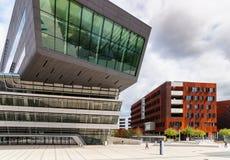 Φουτουριστικό σύγχρονο architeture της πανεπιστημιακής βιβλιοθήκης στη Βιέννη, Α Στοκ Εικόνα