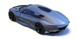 Φουτουριστικό τρισδιάστατο αυτοκίνητο έννοιας Στοκ Εικόνες