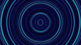 Φουτουριστικό υπόβαθρο, σήραγγα φιαγμένα από ζωηρόχρωμα σημεία και φως κύκλων Γεωμετρικός αφηρημένος βρόχος μορφής με το άλφα καν απεικόνιση αποθεμάτων
