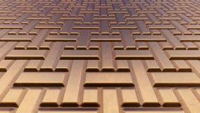 Φουτουριστικό υπόβαθρο χαλκού Στοκ φωτογραφία με δικαίωμα ελεύθερης χρήσης