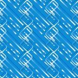 Φουτουριστικό φωτεινό μπλε γεωμετρικό άνευ ραφής κεραμίδι για την τεχνολογία και το σχέδιο υποβάθρου υπολογιστών ελεύθερη απεικόνιση δικαιώματος