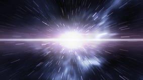 Φουτουριστικό timetravel ή διαστημική στρέβλωση Στοκ φωτογραφία με δικαίωμα ελεύθερης χρήσης