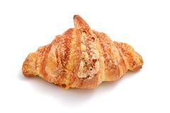 Φούρνος που ψήνεται croissant με το λειωμένο τυρί Τοπ όψη Στοκ Εικόνες