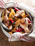 Φούρνος-ψημένα πόδια κοτόπουλου Στοκ εικόνα με δικαίωμα ελεύθερης χρήσης