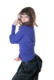 φούστα κοριτσιών μπλουζώ&nu Στοκ φωτογραφία με δικαίωμα ελεύθερης χρήσης
