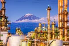 Φούτζι και εργοστάσια στοκ φωτογραφία
