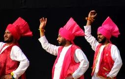 Φολκλορική μουσική και χορός Punjabi Στοκ Φωτογραφίες