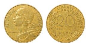 φράγκο νομισμάτων αναδρομ Στοκ Εικόνες