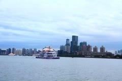 Φράγμα ¼ ŒShanghai της Σαγκάη landmarkï μετά από τη βροχή Στοκ εικόνα με δικαίωμα ελεύθερης χρήσης