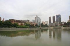 Φράγμα ¼ ŒShanghai της Σαγκάη landmarkï στη βροχή Στοκ Εικόνα