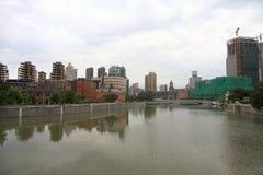Φράγμα ¼ ŒShanghai της Σαγκάη landmarkï στη βροχή Στοκ Φωτογραφίες