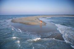 φράγμα άμμου σε εκβολή πο στοκ φωτογραφίες