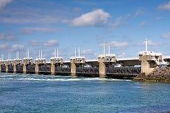 φράγμα γεφυρών Στοκ φωτογραφία με δικαίωμα ελεύθερης χρήσης