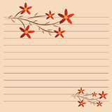Φράγμα λουλουδιών σε χαρτί Στοκ Εικόνα