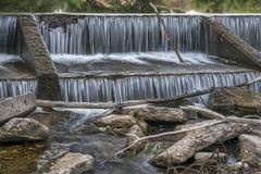 Φράγμα παρεκτροπής ποταμών στον ποταμό Poudre Στοκ Εικόνες