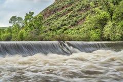 Φράγμα παρεκτροπής ποταμών Poudre Στοκ εικόνα με δικαίωμα ελεύθερης χρήσης