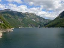 Φράγμα της Νορβηγίας Zakariasdammen Στοκ φωτογραφία με δικαίωμα ελεύθερης χρήσης