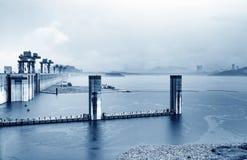 Φράγμα τριών φαραγγιών, Κίνα στοκ εικόνες