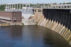 φράγμα υδροηλεκτρικό Στοκ φωτογραφίες με δικαίωμα ελεύθερης χρήσης