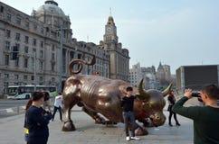 Φράγμα Bull Κίνα της Σαγκάη Στοκ Φωτογραφίες
