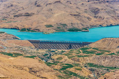 Φράγμα EL Mujib Wadi και λίμνη, Ιορδανία Στοκ Εικόνες