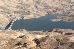 Φράγμα EL Mujib Wadi και λίμνη, Ιορδανία Στοκ Εικόνα