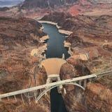 Φράγμα Hoover από το ελικόπτερο στοκ φωτογραφίες