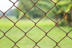 Φράκτης καλωδίων σκουριάς Στοκ φωτογραφία με δικαίωμα ελεύθερης χρήσης