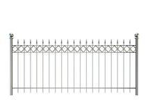 Φράκτης μετάλλων η ανασκόπηση απομόνωσε το λευκό τρισδιάστατο illustra απόδοσης Στοκ εικόνες με δικαίωμα ελεύθερης χρήσης