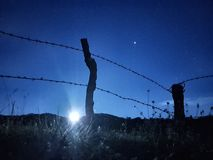 Φράκτης νύχτας Στοκ φωτογραφία με δικαίωμα ελεύθερης χρήσης