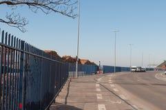 Φράκτης προστασίας τρόμου στο λιμάνι Nykoebing Φ Στοκ φωτογραφία με δικαίωμα ελεύθερης χρήσης