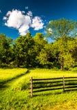 Φράκτης σε έναν χλοώδη τομέα, στο εθνικό πεδίο μάχη Antietam, Maryl Στοκ εικόνες με δικαίωμα ελεύθερης χρήσης