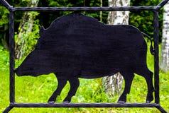 Φράκτης σε εφεδρεία Στοκ Φωτογραφία